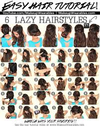hairstyles for back to school for long hair 6 easy lazy hairstyles how to 5 minute everyday hair styles