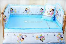 baby crib bedding set mikey minnie mouse bedding set 100 cotton