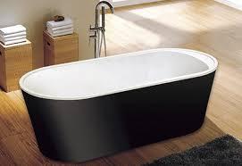 Bathtubs Free Standing Cupc One Piece Black Freestanding Acrylic Tubs Freestanding Bath