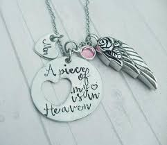 cremation necklaces for ashes cremation necklace a of my heart is in heaven urn