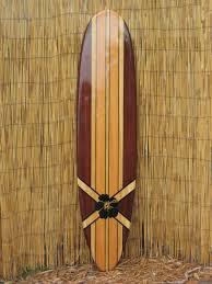 classic 6 foot tropical wooden surfboard artwork beach decor