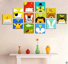 toile chambre enfant tableaux animaux animals