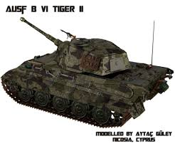 ww2 military vehicles ausf b vi tiger ii world war ii german tank 3d model rigged blend