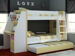Bunk Bed With A Desk Bunk Beds With Desk Wooden Olympic By Sleepland Throughout