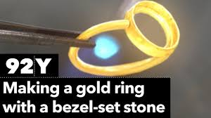 make gold rings images How to make a gold ring with a bezel set stone jpg