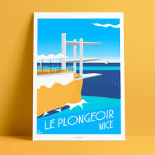 deco pin up affiche d u0027art le plongeoir la réserve et la pin up nice côte d u0027azur
