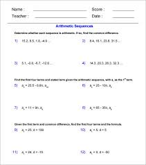 arithmetic sequence examples u2013 10 free word excel pdf format