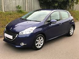 peugeot compact car used peugeot 208 blue for sale motors co uk