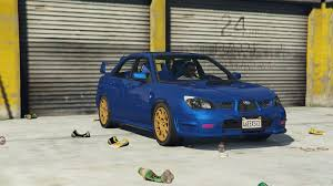 subaru impreza modified blue 2006 subaru impreza wrx sti tuning gta5 mods com