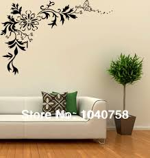 aliexpress com buy large black wall sticker flower floral tribal