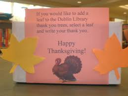 thanksgiving thank you trees dublin library