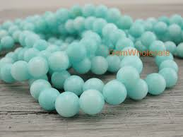 light blue semi precious stone 15 light blue malaysian jade 6mm 8mm 10mm 12mm round beads blue