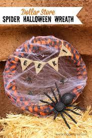 Halloween Spider Wreath by Dollar Store Spider Halloween Wreath 20 Halloween Ideas I Dig