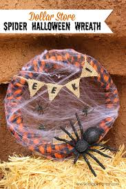 Pinterest Dollar Store Ideas by Dollar Store Spider Halloween Wreath 20 Halloween Ideas I Dig