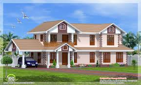 Kerala Style 3 Bedroom Single Floor House Plans Two Storey Kerala Model 2261 Sq Feet House Kerala Home Design