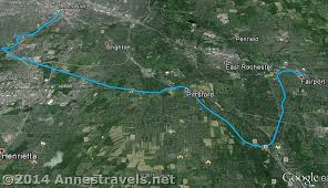 map of the erie canal genesee riverway and erie canal path history via bikes