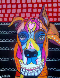 boxer dog art today boxer dog art print poster of painting modern abstract