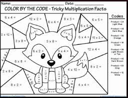 printable multiplication activity sheets winter multiplication coloring sheets fun math coloring worksheets