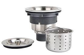 KONE Inch Kitchen Sink Strainer With Removable Deep Waste - Stainless steel kitchen sink strainer