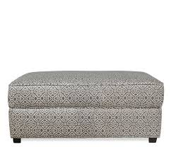 ottoman with patterned fabric hideaway storage ottoman stocked in a pewter and natural geometric