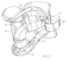 patent us7141031 cervical collar with end supported chin strap