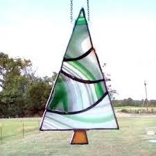 sale stained glass tree suncatcher green tree