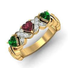 ruby rings designs images Ruby emerald ring design 0 06 ct real diamond solid gold everyday jpg&a