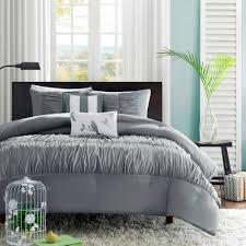 5 Piece Duvet Set Colormate 5 Piece Mirimar Comforter Set Gray