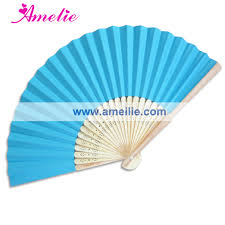 fans wholesale 50piece lot wholesale fans bamboo wedding favors white blue