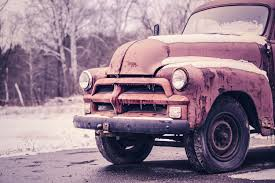 rusty pickup truck free images snow cold winter road wheel old rust decay
