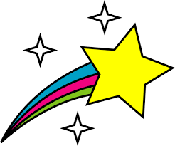and shooting star clipart black and white