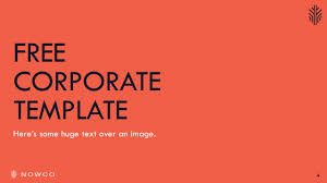 nowco free corporate powerpoint template be great pinterest