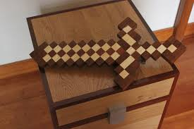 Making A Toy Chest From Wood by How To Make A Minecraft Sword In Real Wood Life Minecraft Toys To