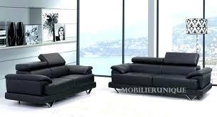 canapé droit 3 places canape droit cuir canapac 3 places chic spacieux et