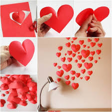 heart wall decoration how to diy creative paper hearts wall decor