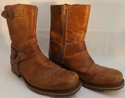 womens brown leather boots size 9 mens nushu cowboy biker boots size uk 7 eu41 us8 leather blunt