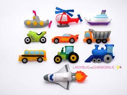 vehicles for kids felt magnets fridge magnets cute