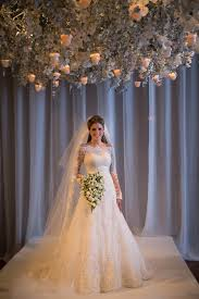 Wedding Dress Ivory 2017 Elegant Wedding Dress Long Sleeve Sweep Train Zipper Back