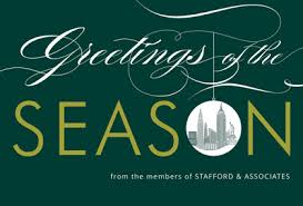 Business Holiday Card New York Skyline New York Corporate Holiday Greeting Cards
