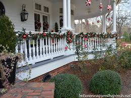 front porch christmas decorations banister christmas decorations porch decor lights christmas