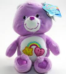 care bears 2004 pink 8 friend bear rainbow heart