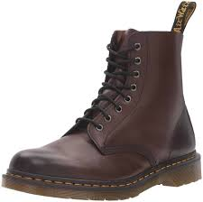 exclusive dr martens mens pascal 8 eye fashion boots leather