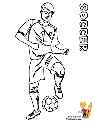 soccer player coloring pages free printable soccer coloring pages