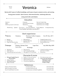 How To Write A Resume Example by Starbucks Barista Resume Berathen Com