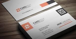 modern stylish qr code business card template cardzest