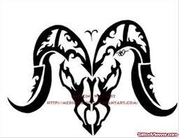 amazing tribal and aries zodiac tattoo design tattoo viewer com