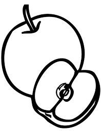 Food Apple Cut Coloring Pages Apple Coloring Pages Foods Cut Coloring Pages