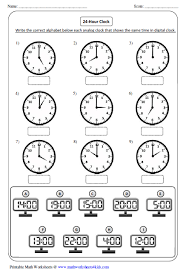 clock worksheets and charts