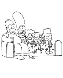 coloring print famous characters simpsons number 294975