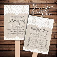Wedding Program Printing Wedding Fans Wedding Favors Rustic Wedding Fans Chalkboard